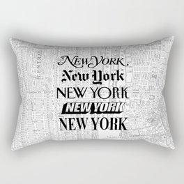 New York City black and white New York poster I love heart NYC Design black-white home wall decor Rectangular Pillow
