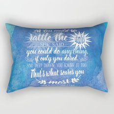 Throne of Glass by Sarah J. Maas Book Quote - Rattle The Stars Rectangular Pillow