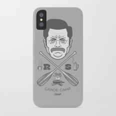 Ron Swanson Canoe Camp (clean gray variant) Slim Case iPhone X