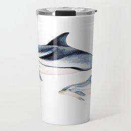 Striped dolphin Travel Mug