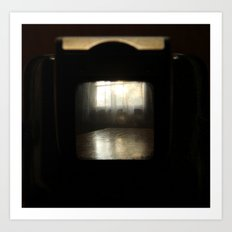 Through the viewfinder and finding the light Art Print