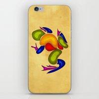 frog iPhone & iPod Skins featuring Frog by Aleksandra Mikolajczak