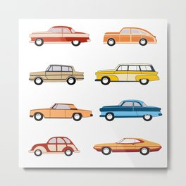 Retro old car Metal Print