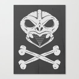 Skull and crossbones tiki Canvas Print