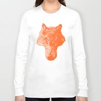 coyote Long Sleeve T-shirts featuring Head Coyote by barmalisiRTB