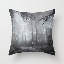 seeking silence Throw Pillow