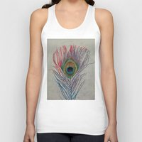 peacock feather Tank Tops featuring Peacock Feather by Michael Creese