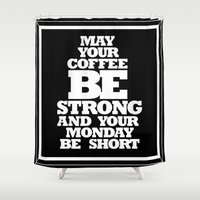strong Shower Curtains featuring STRONG by ALLTYPE