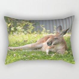 Comfy as a Kangaroo Rectangular Pillow