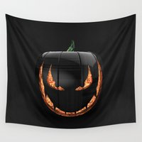 pumpkin Wall Tapestries featuring pumpkin by Duitk