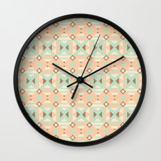 Ethnic Moroccan Motifs Seamless Pattern 18 Wall Clock