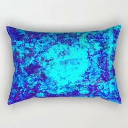 AQUA - Abstract blue water painting Rectangular Pillow