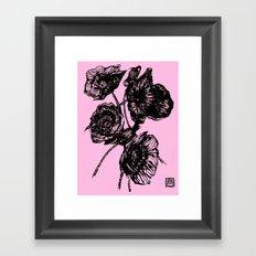 Poppies In Bloom Framed Art Print