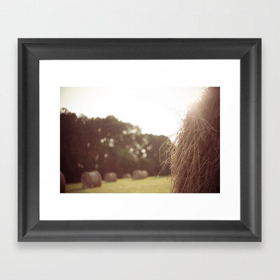 Baling Time Framed Art Print
