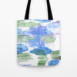 Green blue abstract Tote Bag