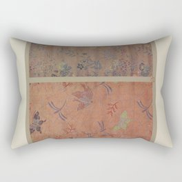 Verneuil - Japanese paper and fabric designs (1913) - 38: Butterflies and flowers Rectangular Pillow