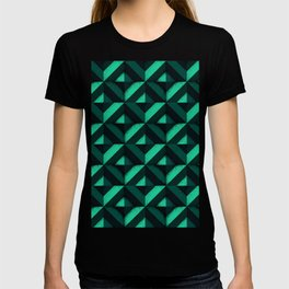 Concrete wall - Emerald green T-shirt