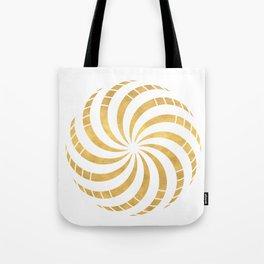 GOLD TORUS circular sacred geometry Tote Bag