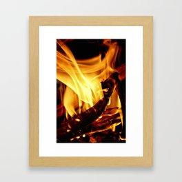 Willing to Burn Framed Art Print