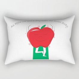 Apple Tree Pose Rectangular Pillow