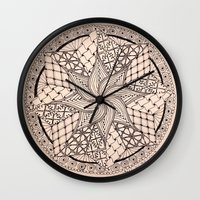 zentangle Wall Clocks featuring ZENTANGLE by Nogland