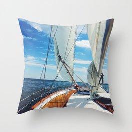 Sweet Sailing Throw Pillow