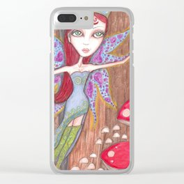Forest Faerie Clear iPhone Case