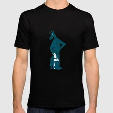 Happy Father's Day Unicorn Black Mens Fitted Tee MEDIUM