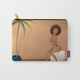 Woman sitting Carry-All Pouch