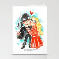 princess bride Stationery Cards featuring Princess Bride Hug by Super Group Hugs