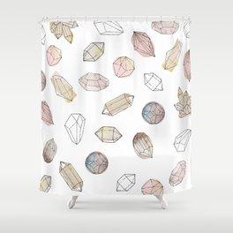 Watercolor Crystals | Healing Crystals Shower Curtain
