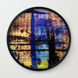 Easel Abstract 5 Wall Clock