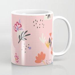 Abstract modern floral pink Coffee Mug