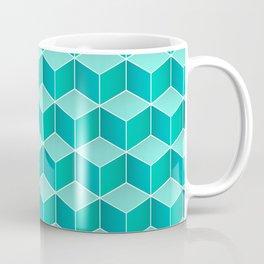 Ocean cubes, a symmetric pattern inspired by the sea. Coffee Mug