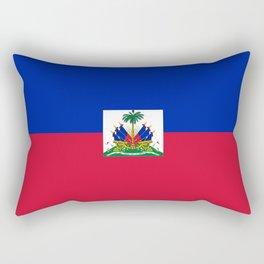 flag of haïti Rectangular Pillow