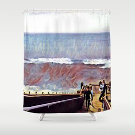 Grandview Lovers Shower Curtain