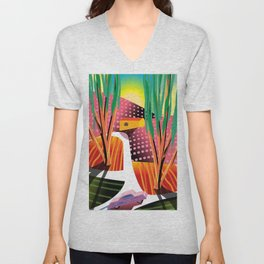 Sunset Curve Unisex V-Neck
