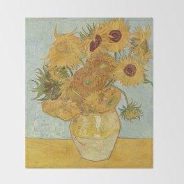 Vincent van Gogh's Sunflowers Throw Blanket