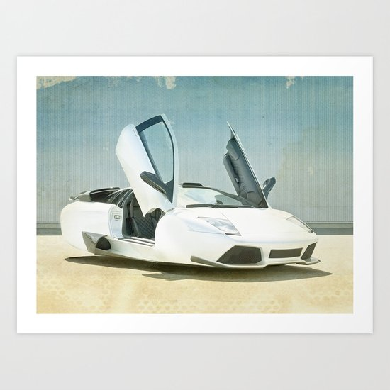Hover car Art Print