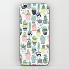 Cute Cacti in Pots iPhone & iPod Skin