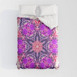 bouquet-lined bridges mandala Comforters
