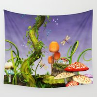 fairytale Wall Tapestries featuring fairytale by Ancello