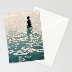 Lady in swimming pool Stationery Cards