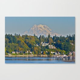 Mount Rainier from Olympia Canvas Print