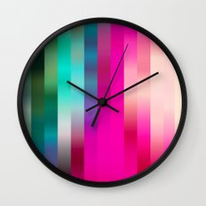 Pomegranate Stripe Wall Clock