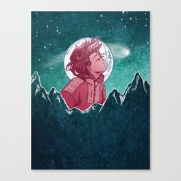 The Astronomer Who Met The North Wind Canvas Print