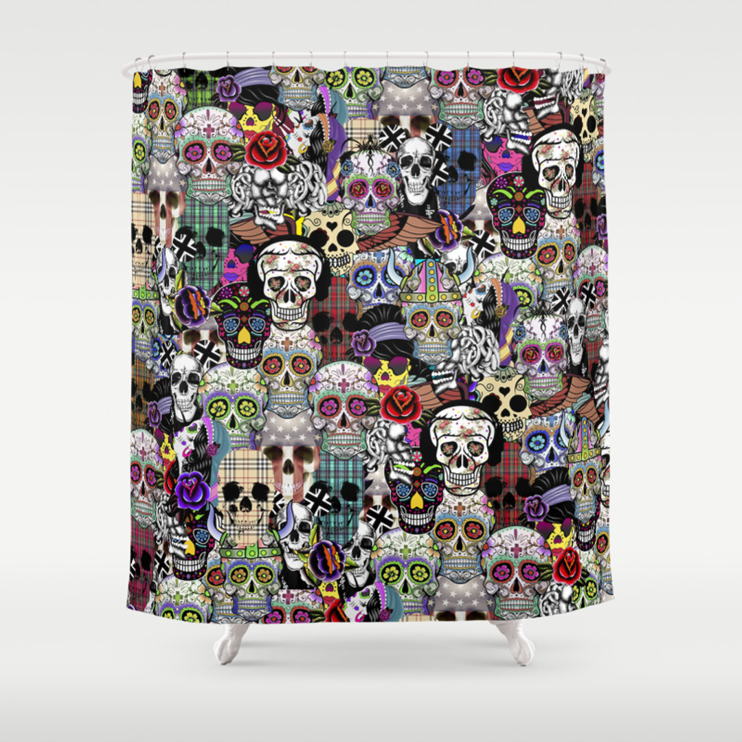Halloween shower curtain - Halloween Shower Curtain