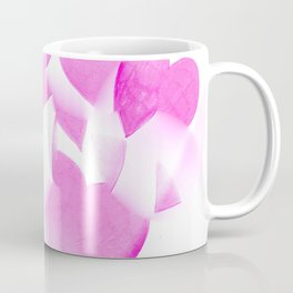 Blended Pink Hearts Coffee Mug