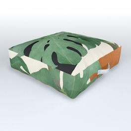 Tropical Leaves- Abstract Art  Outdoor Floor Cushion