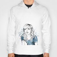 emma stone Hoodies featuring Emma by naidl